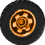Tire Wheels orange 2017