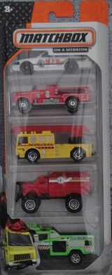 Matchbox 2014 5 pack Fire Command