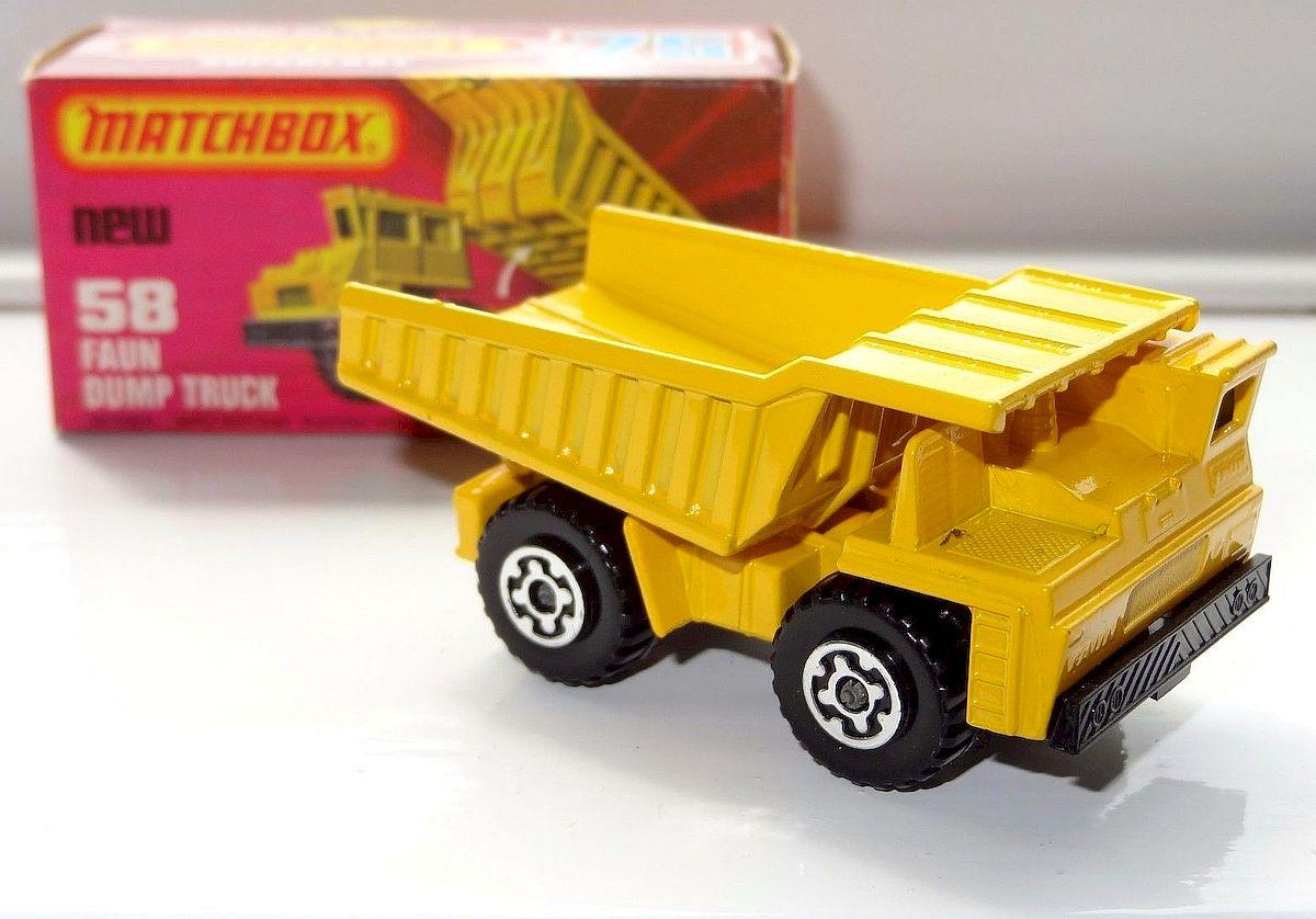 Matchbox Superfast No 58 Faun Dumper Truck