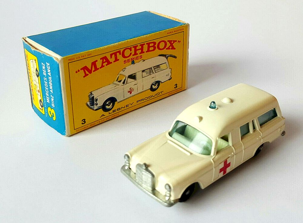Mercedes Benz Binz Ambulance | Matchbox Cars Wiki | FANDOM