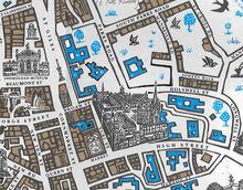 Иордан-колледж улицы Карта Оксфорда