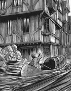 Малкольм каноэ наводнение улицы Оксфорда иллюстрация