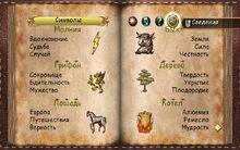 Символы Дневник страница 1 игра