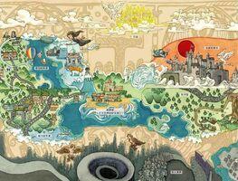Карта перекрёстка миров иллюстрация Китай 2019