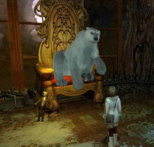 Король Рагнар на троне с деймоном игра