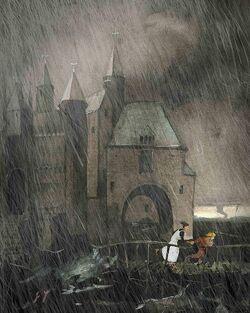Монастырь Годстоу побег иллюстрация Украина 2019