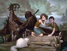 Мир мёртвых переправа прощание с Пантелеймоном Фан арт