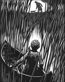 Малкольм в тростниках иллюстрация Книга Пыли