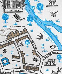 Река Черуэлл Университетский парк Колледж святой Софии карта Оксфорда