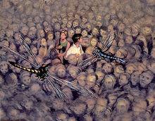 Мир мёртвых духи фрагмент обложки Knopf 2000