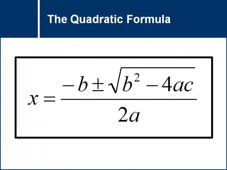 Derivation of the Quadratic Formula   Math & Physics ...