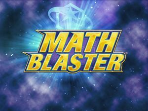 Math Blaster online title
