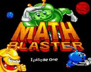 Math Blaster 1 title