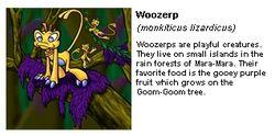 Woozerp trading card