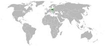 Położenie Polski na mapie świata