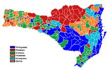 Imigração predominante em Santa Catarina