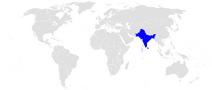 Położenie Indii