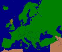 Mapa Szkocji w Europie