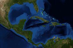 Mapa Satelitarna Ameryki Środkowej