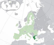 Mapa Grecji w Europie