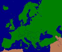 Mapa Walii w Europie