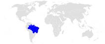Położenie Brazylii