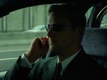 Jackson in car