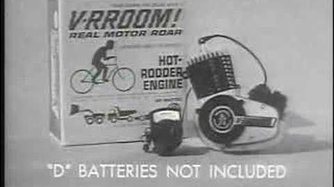 """Mattel """"V-rroom!"""" TV Commercial 1960s"""
