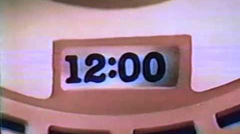 1981 Mattel See 'n Say Talking Clock TV commercial