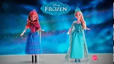 Disney's Frozen 2013 MATTEL Singing Dolls Commercial