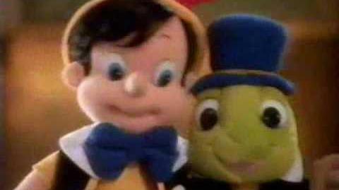 1992 Mattel Plush Pinocchio & Jiminy Cricket Doll Commercial