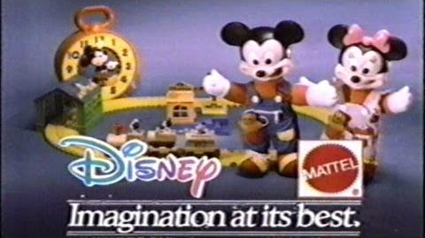 Disney Mattel Toys Commercial, Dec 7 1989