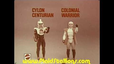 Mattel Battlestar Galactica Cylon toy commercial 1979