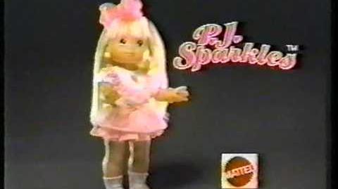 Mattel PJ Sparkles Commercial 1988