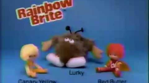 Mattel Canary Yellow, Red Butler, Lurky Doll Commercial 1984