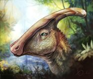 Parasaurolophus painting by charfade-d9z8ylq.png