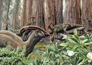 Parasaurolophus by eloymanzanero