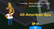 Unlocked all-americanApu