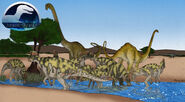 Jg corythosaurus mamenchisaurus by march90-d7ifxnz