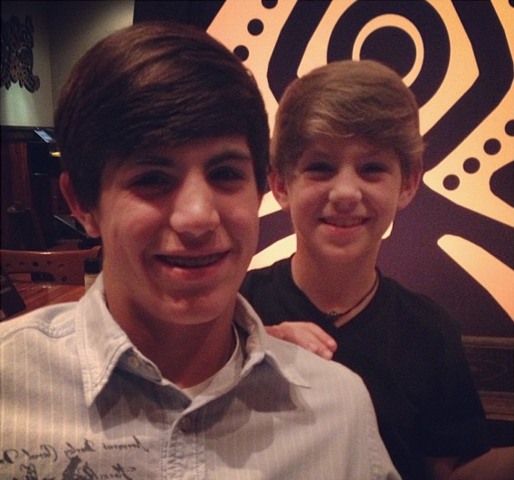 Photo of MattyB & his Brother John Michael Morris