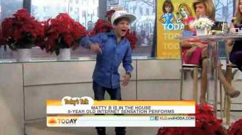 MattyB Performs on the Today Show with Kathie Lee and Hoda