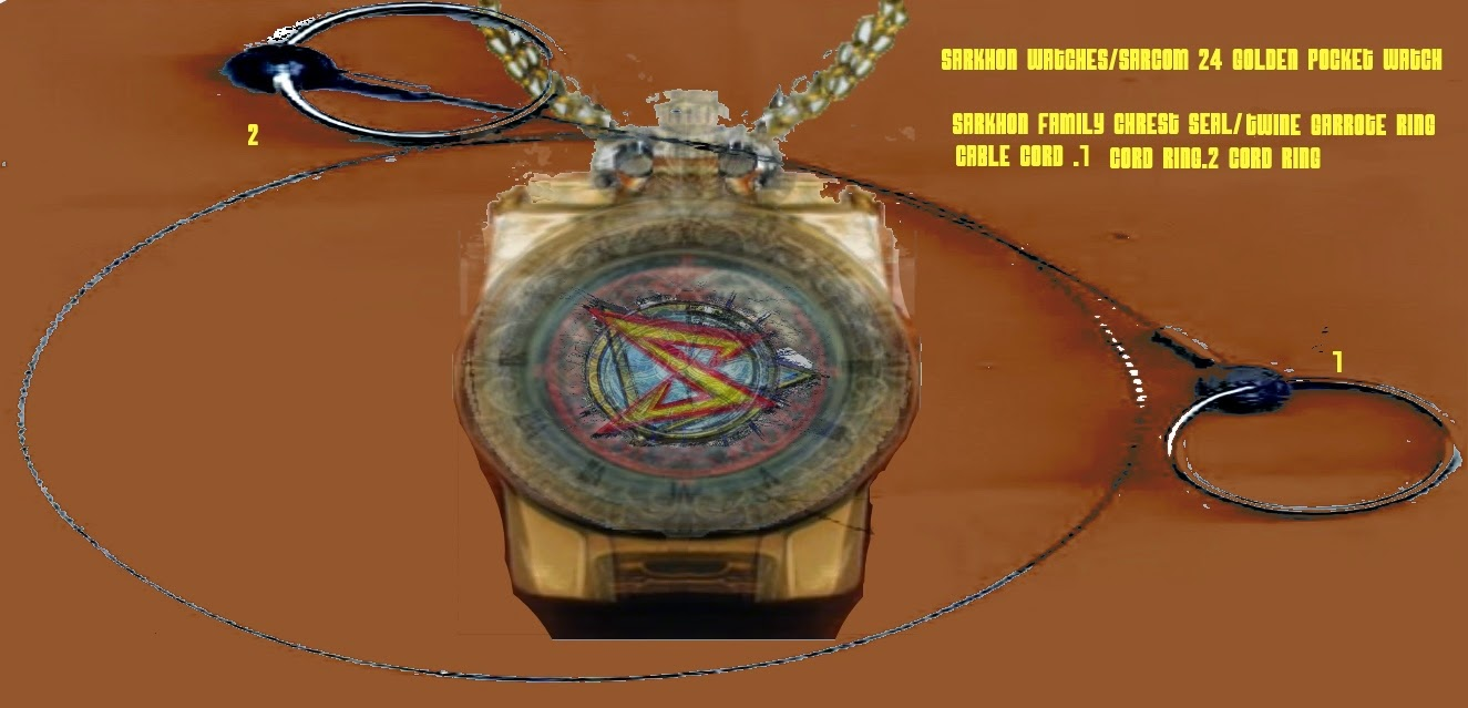 Sarkhon Watch Sarcom 23 Golden Time Sorcerers Seal pocket watch