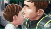 S203 - Jim kissing Max's forehead