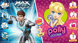 Max Steel and Polly Pocket on Burger King - 2016