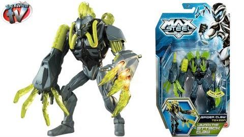 Max Steel Spider Claw Toxzon Action Figure Toy Review, Mattel