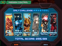 Max steel app level selection