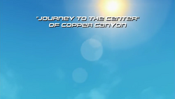 Journey to the Center of Copper Canyon title screen