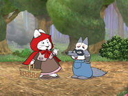 Max and Ruby as Little Red Riding Hood