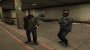 Бандиты Пунчинелло ожидают Макса на станции