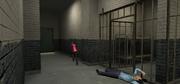 Мона убегает из полицейского участка